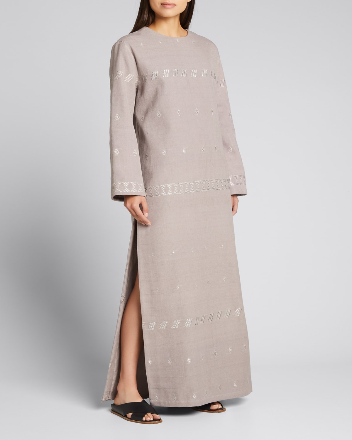 Carla Embroidered Cotton-Blend Dress