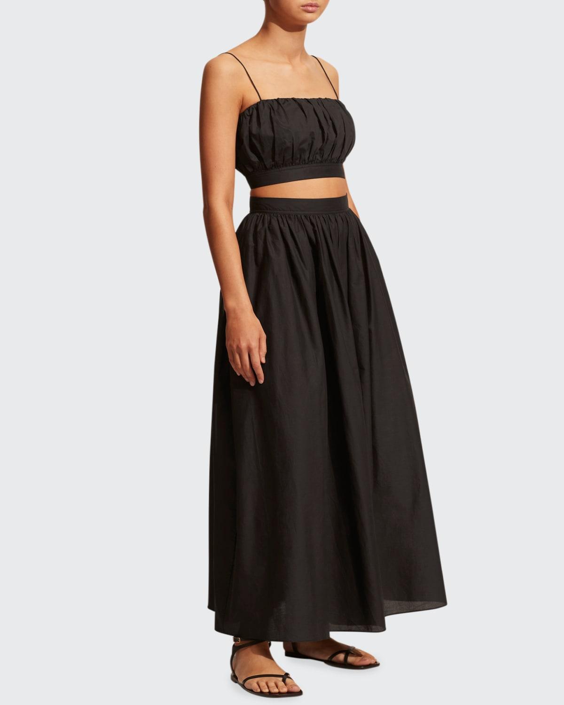 Voluminous Cotton Maxi Skirt