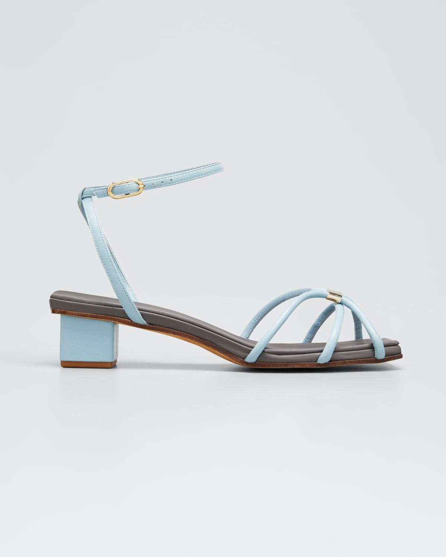 Roxie Block-Heel Leather Sandals