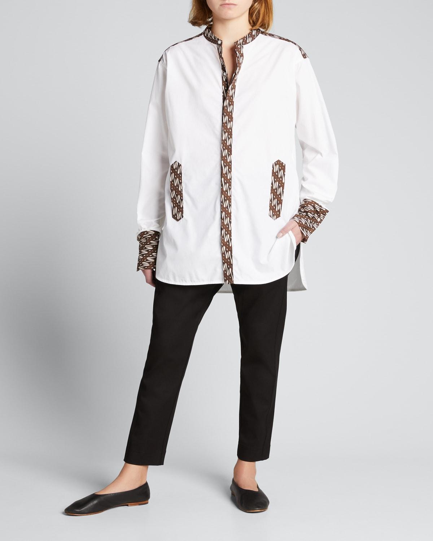 Cotton Tab Detail Shirt