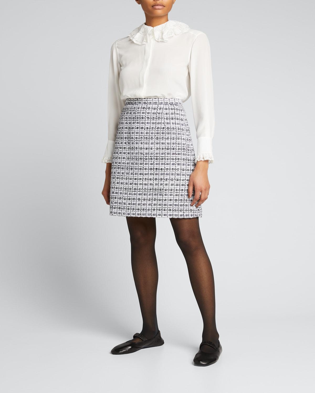 Tweed A-Line Skirt