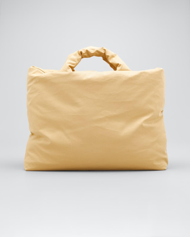 Large Oil-Coated Canvas Shopper Tote Bag