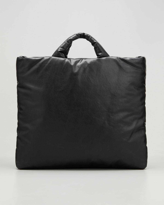 Medium Oil-Coated Canvas Shopper Tote Bag