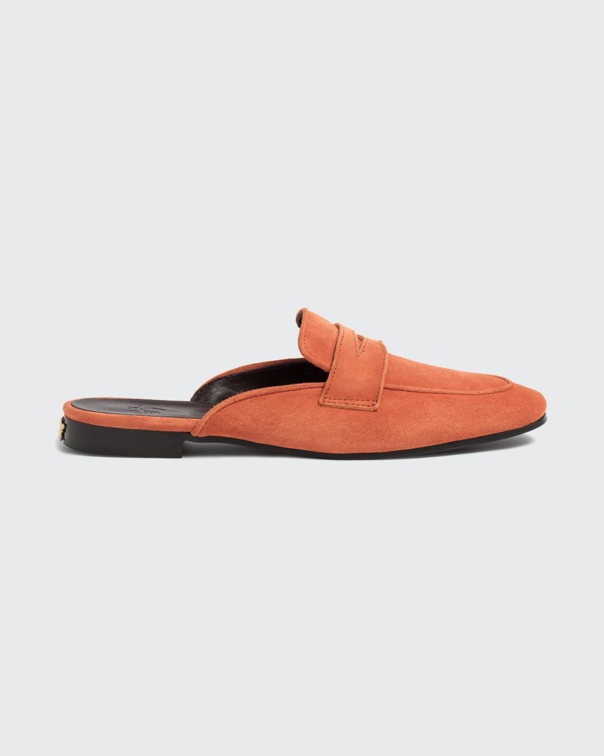 Suede Penny Loafer Mules