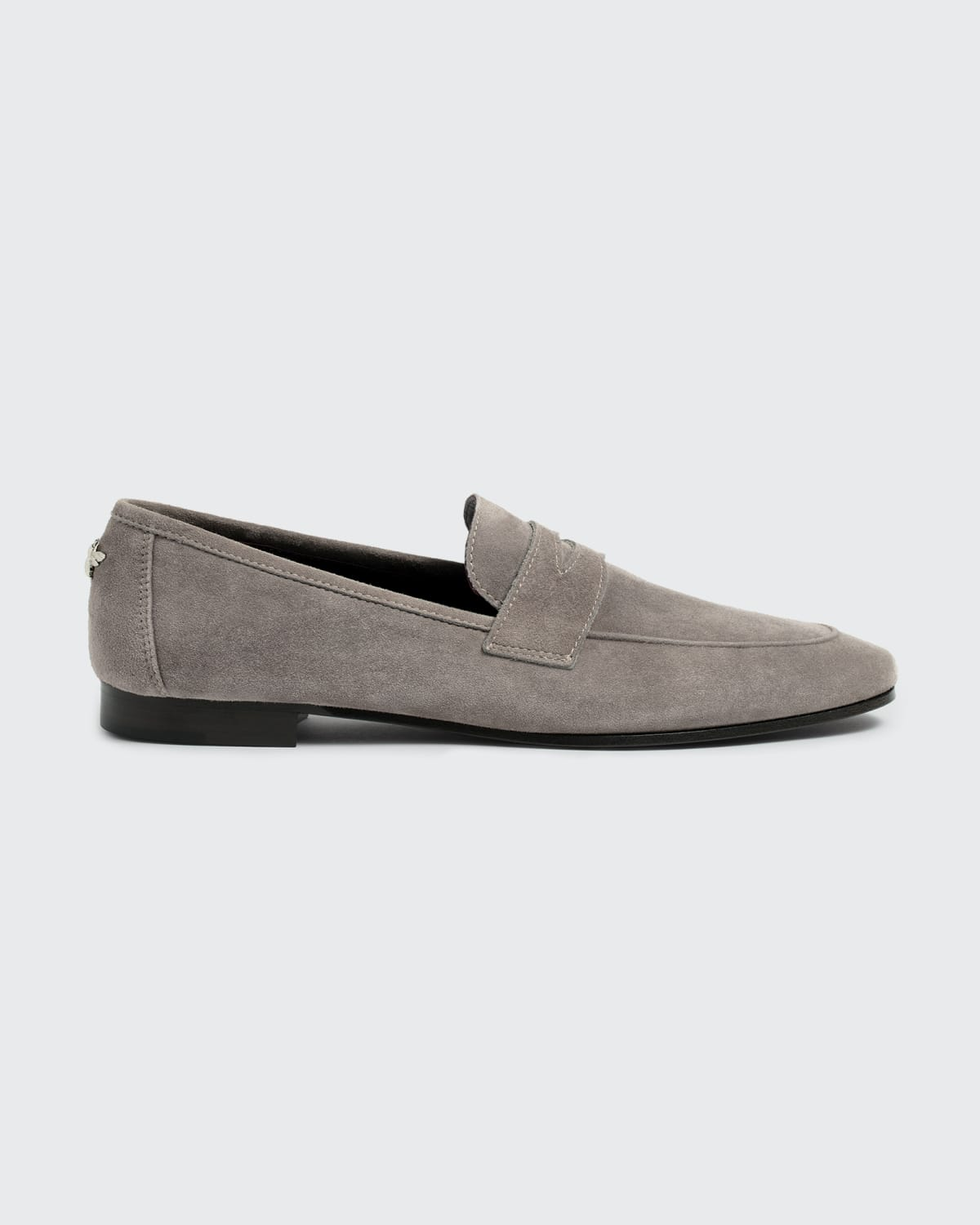 Suede Flat Penny Loafers