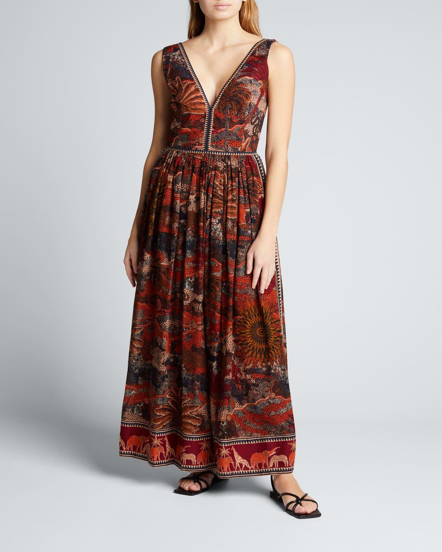 Sophia Burning Sun Long Sleeveless Dress