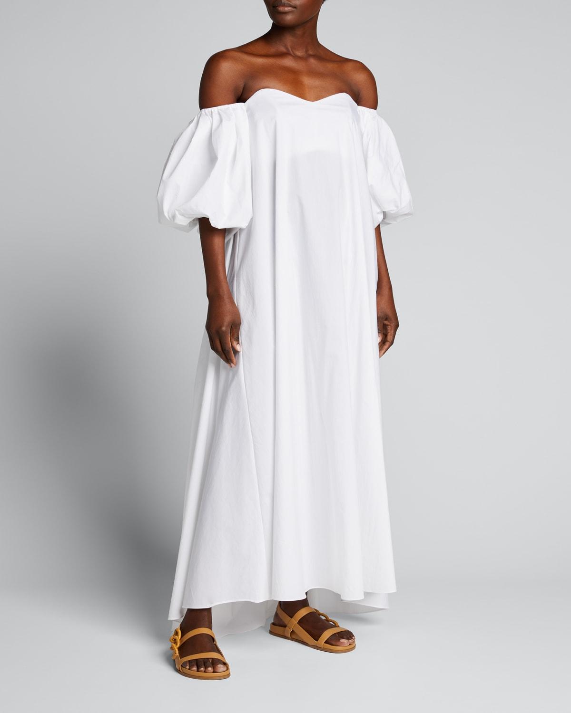Palmer Off-Shoulder Puff-Sleeve Maxi Dress