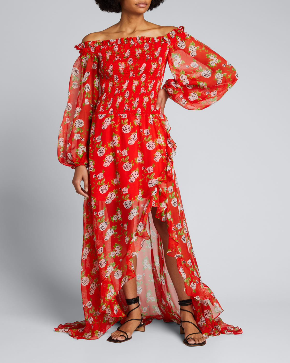 Ambrosia Floral Silk Gown