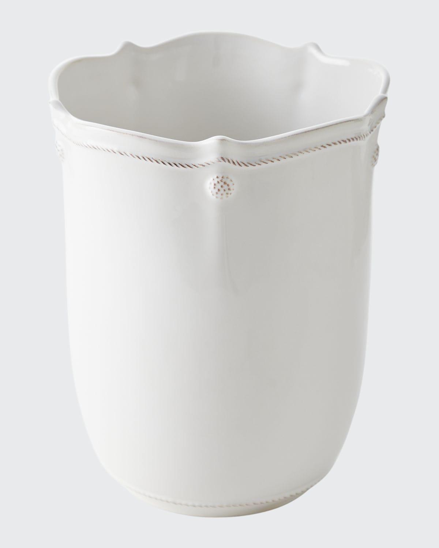 Wastebasket Berry and Thread Whitewash