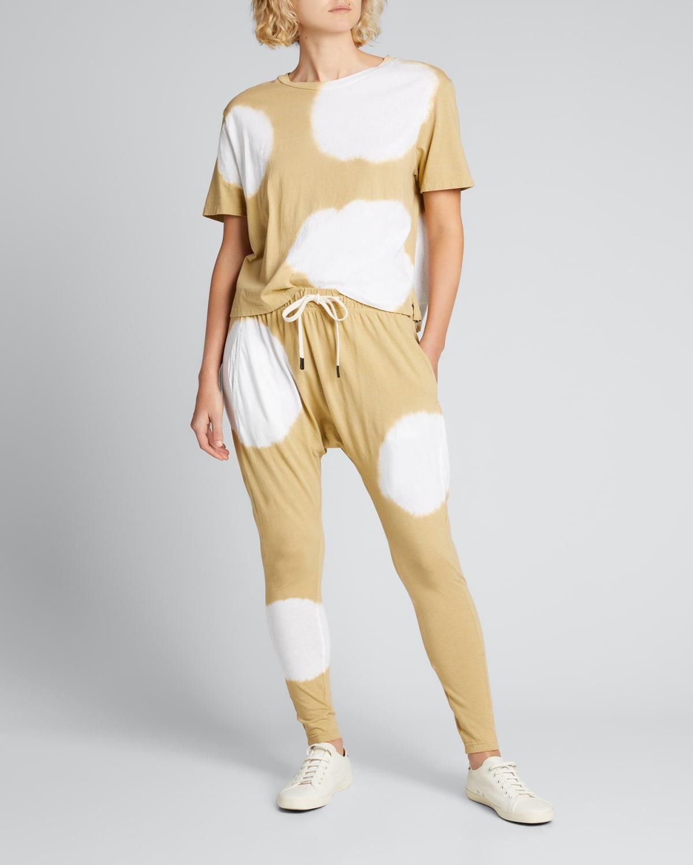 Radial-Dye Slouchy Jersey Lounge Pants
