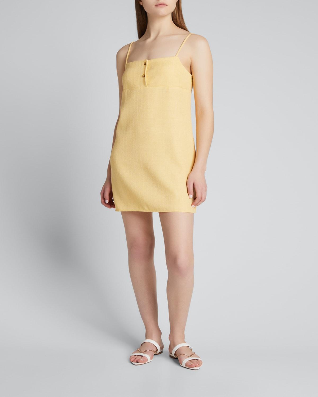 Garda Square-Neck Shift Dress