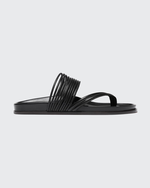 Roma Strappy Napa Flat Sandals