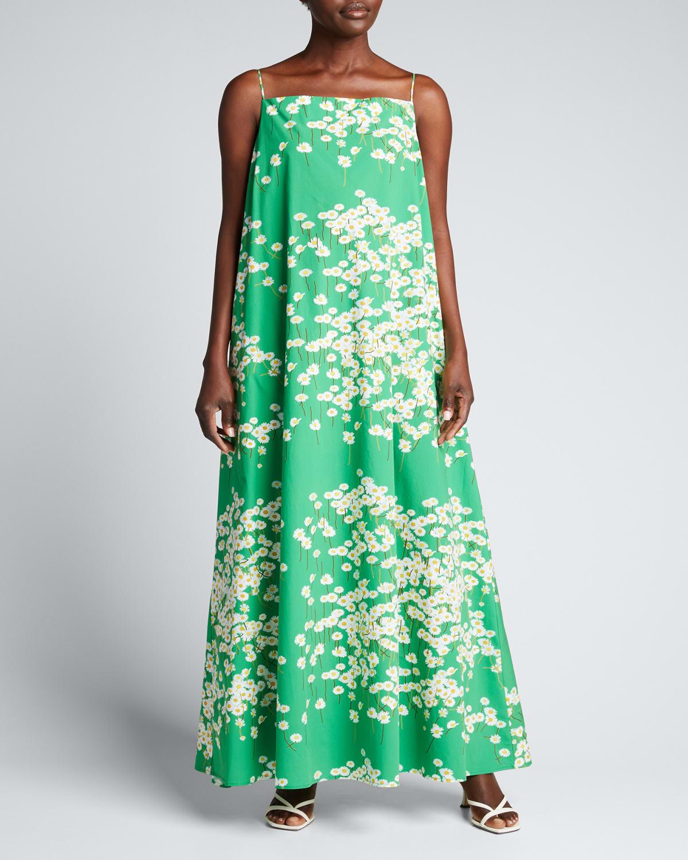 Audrey Daisyfield-Print Maxi Dress