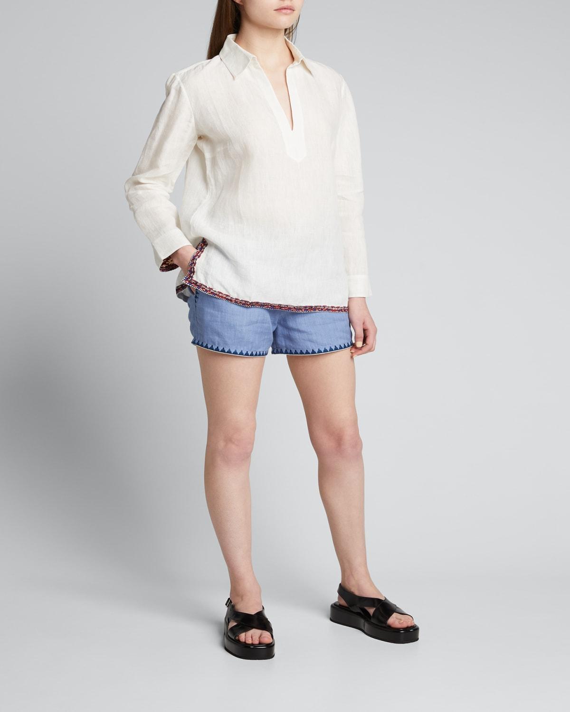 Alina Nerano Collared Linen Tunic