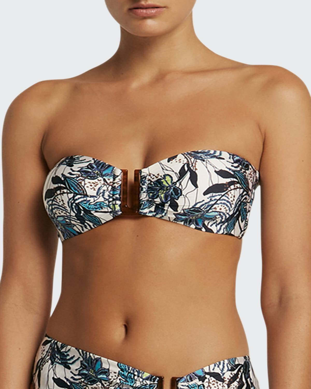 Isola Bella Floral Bandeau Bikini Top