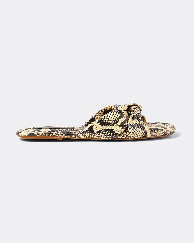 Polly Leopard-Print Knot Slide Sandals