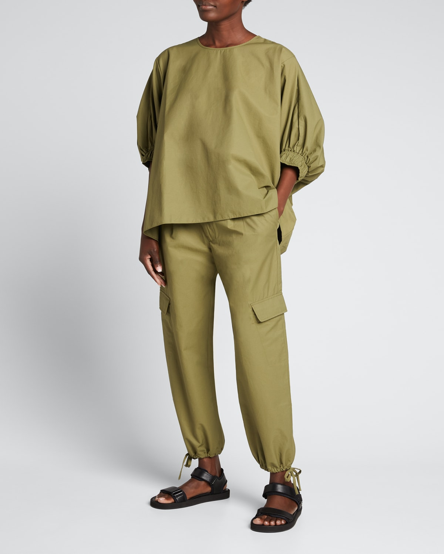 Viola Tie-Cuff Cargo Pockets