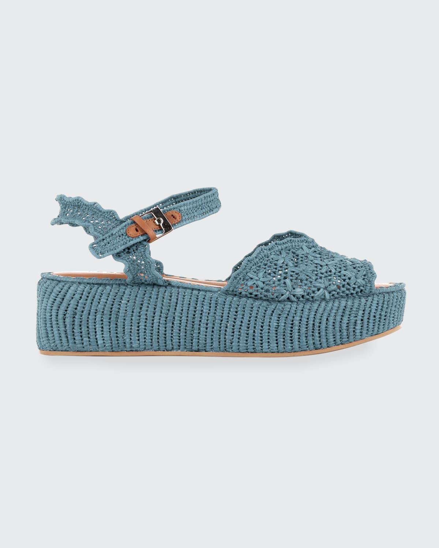 Aimie Raffia Platform Sandals