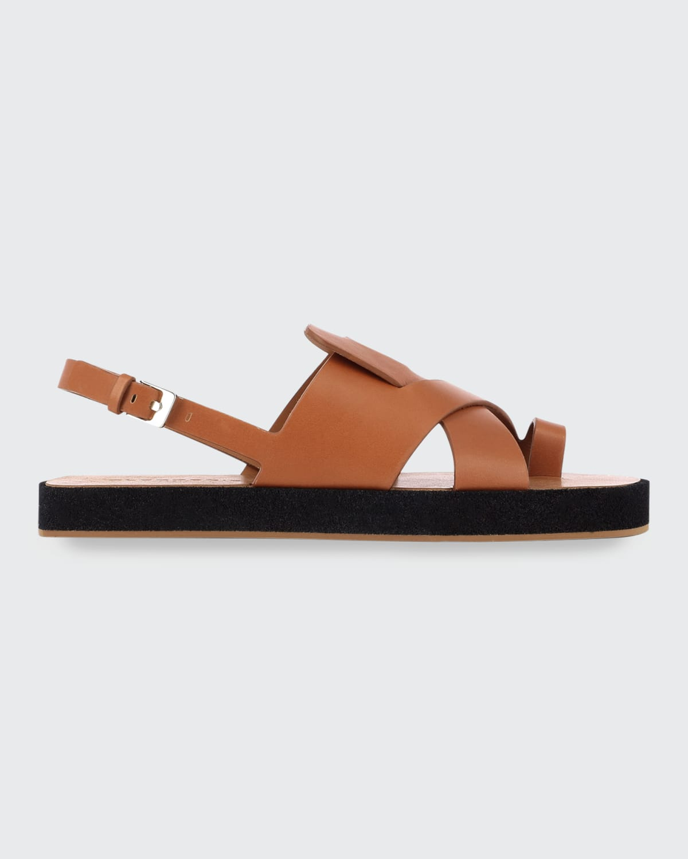 Greta Leather Toe-Ring Sandals