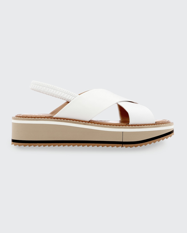 Freedom Crisscross Slingback Platform Sandals