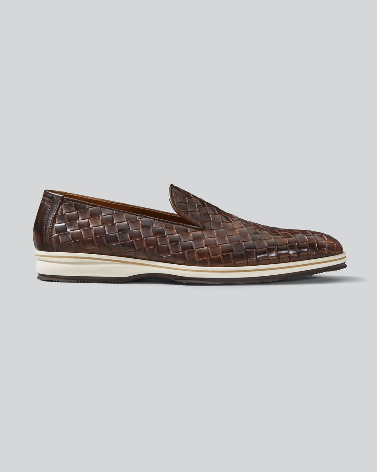 Men's Guanto Woven Leather Loafers