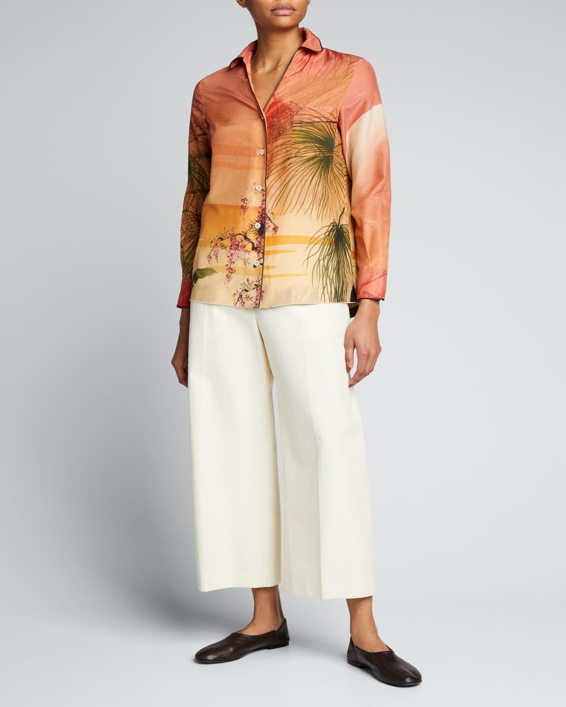 Jungle-Printed Pajama Shirt