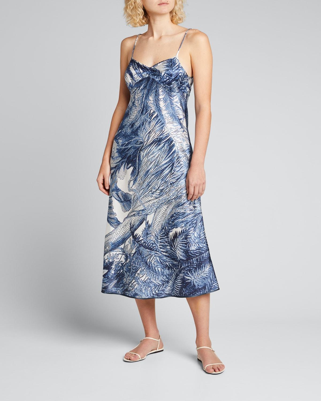 Printed Satin Slip Dress