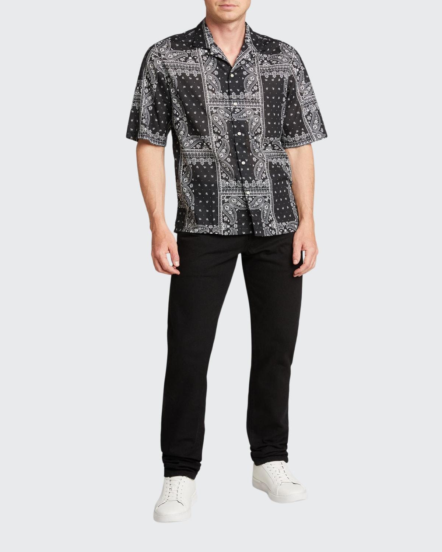 Men's Single-Wash Slim-Fit Jeans