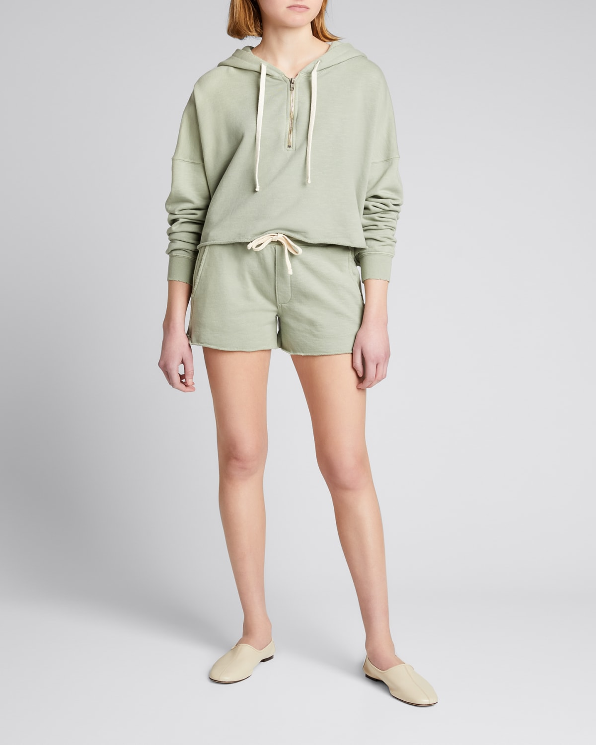 Zip-Front Cropped Hoodie