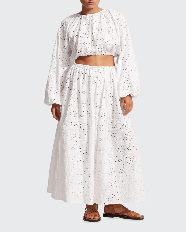 Crochet Broderie Skirt