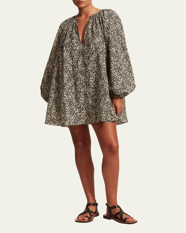 Voluminous Mini Tunic Dress