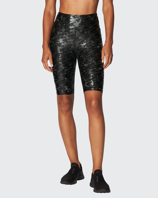 Marvel Shiney Camo Biker Shorts