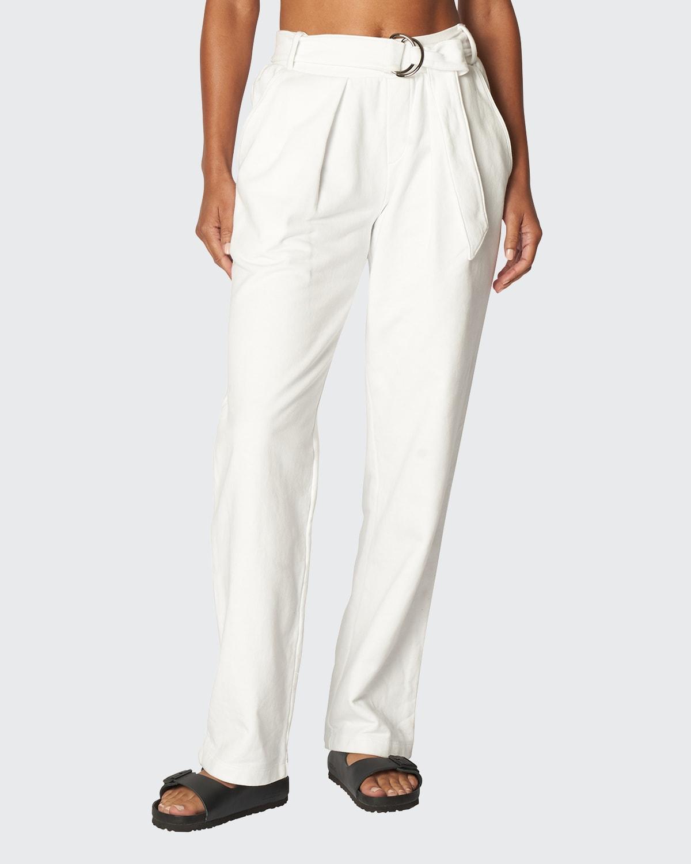 Pleated Sweatpants w/ Belt