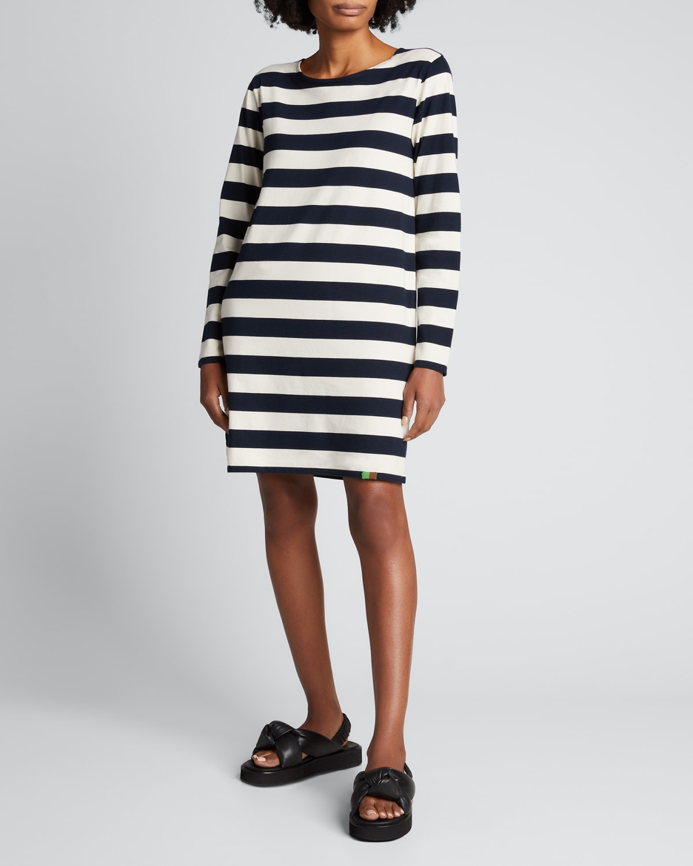 The Organic Mari Striped Dress