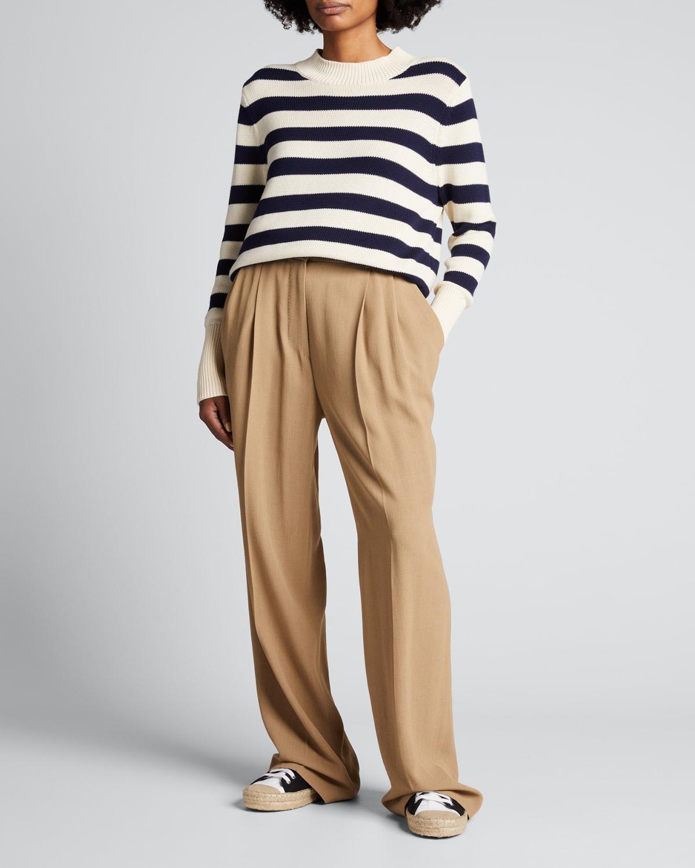 The River Striped Crewneck Sweater