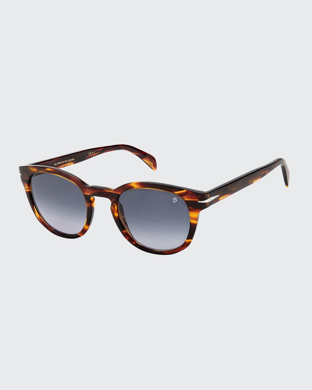 Men's Round Acetate Keyhole Sunglasses
