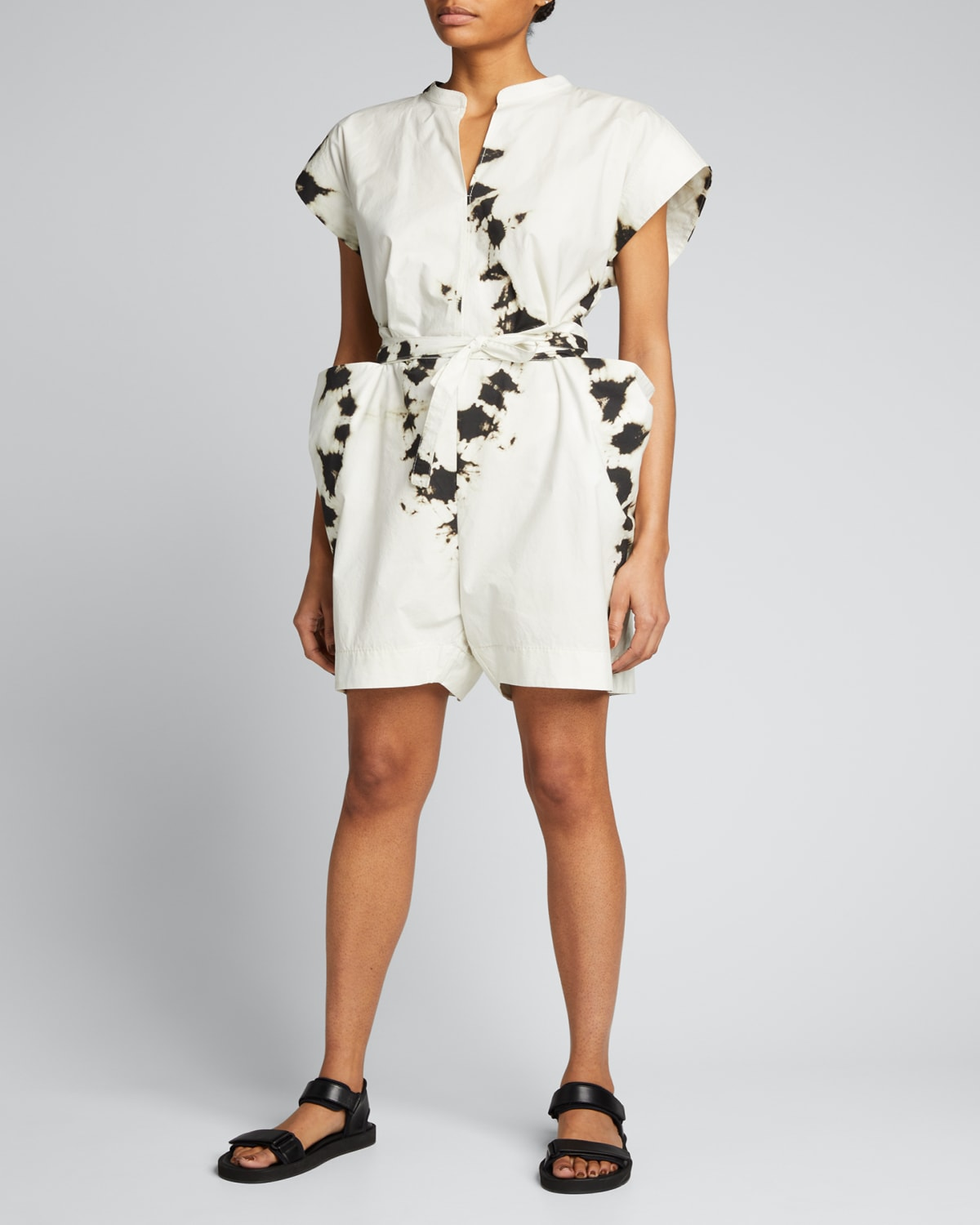Printed Cotton Belted Playsuit