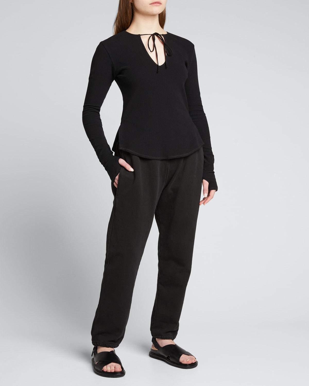 Drawstring Fleece Track Pants