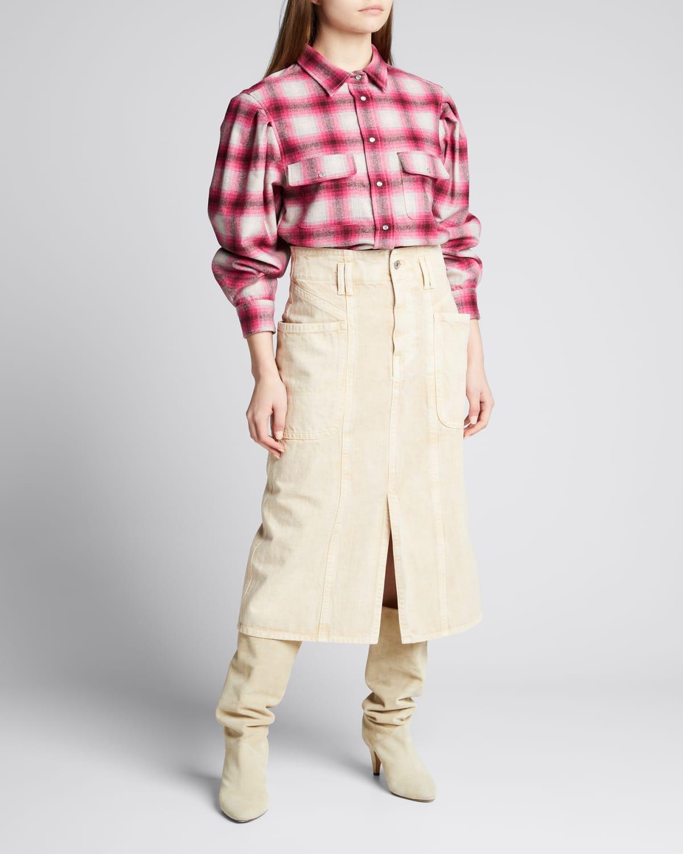 Reosi Plaid Button-Down Shirt