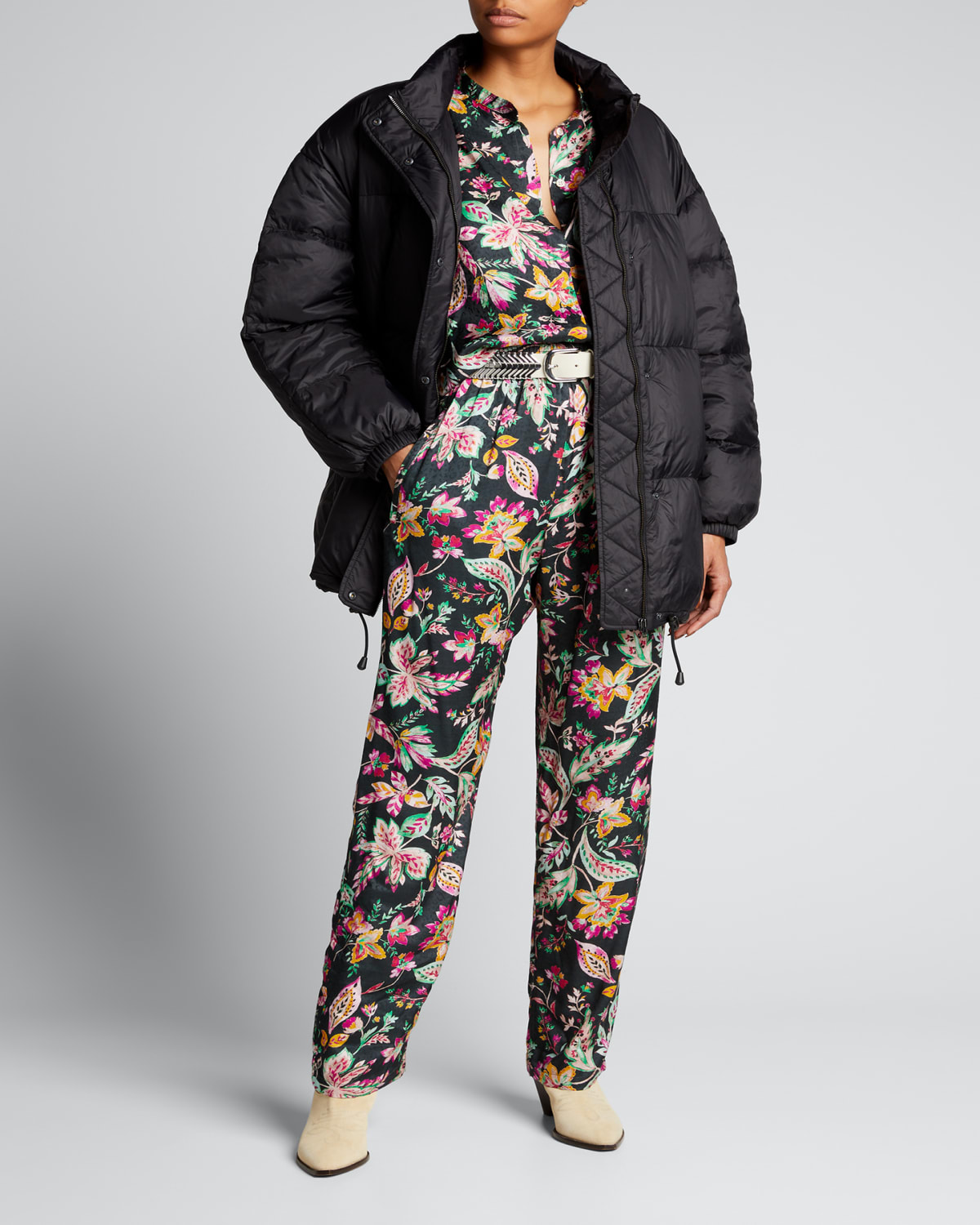 Dilys Belted Puffer Jacket