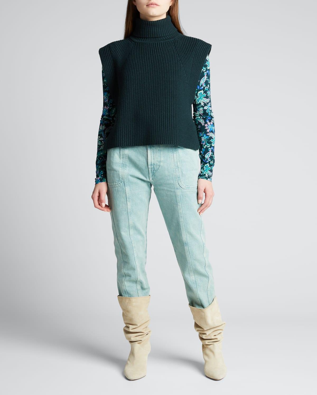 Megan Sleeveless Turtleneck Sweater