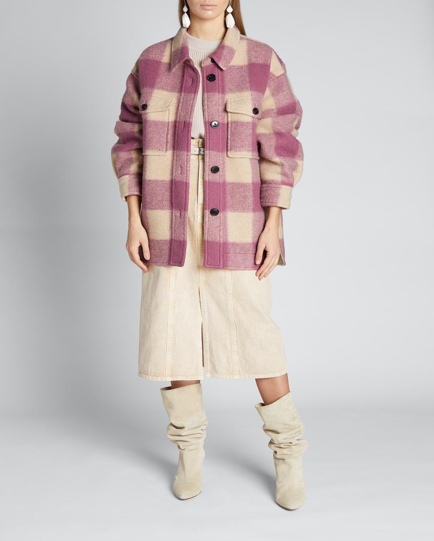 Harveli Plaid Wool Coat