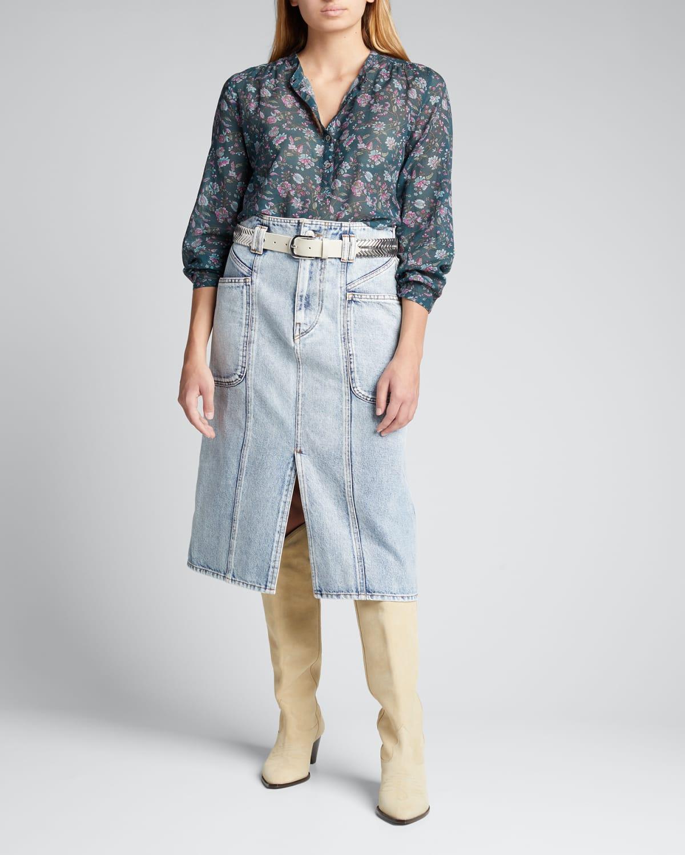 Toria Denim Skirt