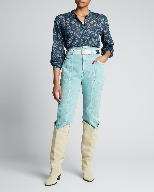 Maria Printed Button-Down Shirt