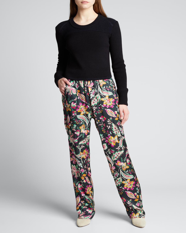 Benton Printed Pull-On Pants