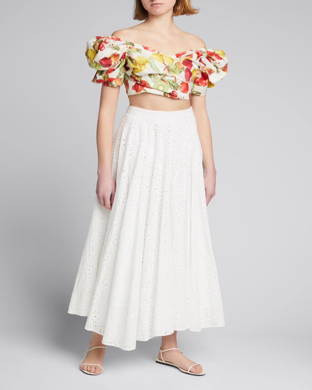 Aquinnah Eyelet Long Skirt