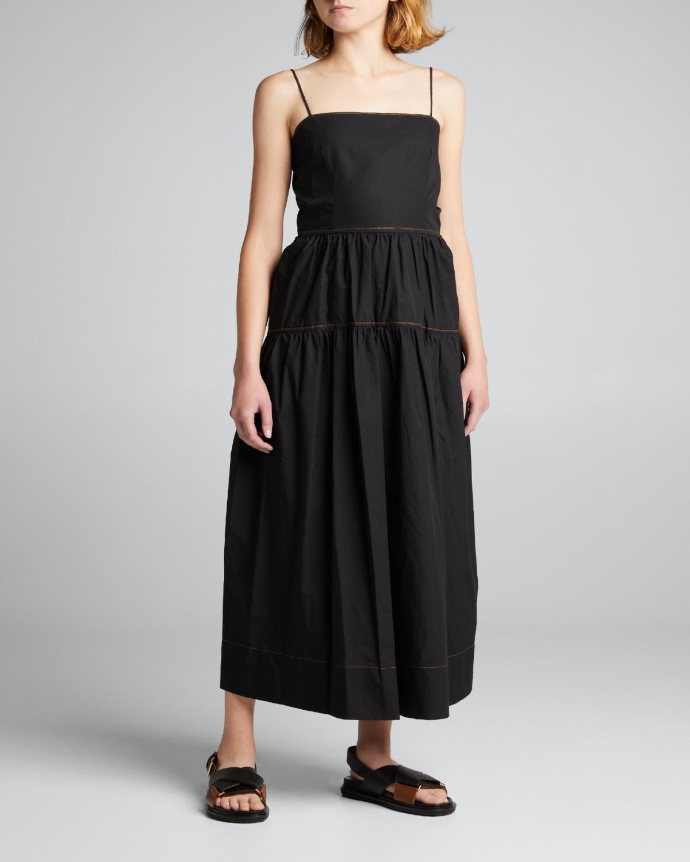 Cotton Tie-Back Summer Dress