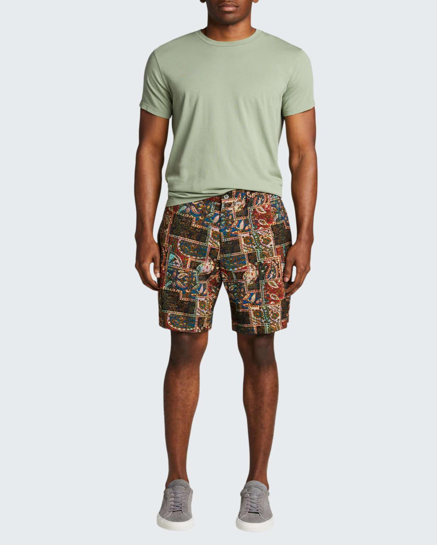 Men's Multicolor Paisley Patchwork Shorts