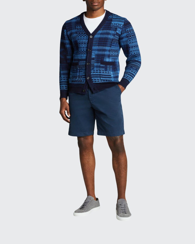 Men's Multi-Patchwork Cardigan Sweater