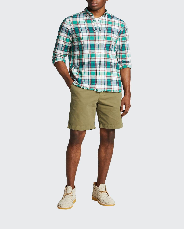 Men's Madras Plaid Sport Shirt